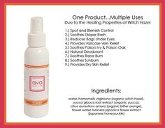 avaSKIN .. Amazing toner without the chemicals!  Come visit our Facebook page for more information on Ava Anderson Non Toxic at www.facebook.com/AvaAndersonIL