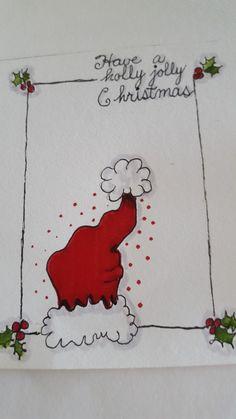 Holly Jolly Christmas - Drawing Still 2020 Christmas Doodles, Diy Christmas Cards, Christmas Art, Christmas Greetings, Christmas Decorations, Rustic Christmas, Watercolor Christmas Cards, Christmas Drawing, Christmas Paintings
