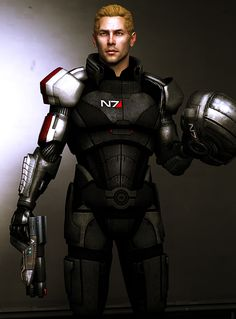 Commander . . . by princessstabbity on tumblr - Commander Cullen Rutherford from Dragon Age in Mass effect N7 armor.