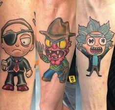 Best 40 Rick and Morty Fan Tattoos Tatuaje Rick And Morty, Rick And Morty Tattoo, Fan Tattoo, Tattoo You, Ricks Tattoo, Daniel Tattoo, Rick Y Morty, Music Station, Cartoon Tattoos