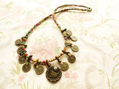 #Ethnic #coin #necklace #evileye #ottoman #jewelry #boho #bohemian by Handemadeit