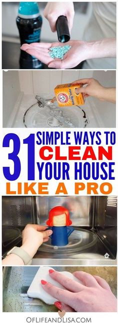 House Cleaning Tips and Tricks That Will Blow Your Mind Clean your house from top to bottom like a pro. Check out this post to see 31 House Cleaning Tips.Clean your house from top to bottom like a pro. Check out this post to see 31 House Cleaning Tips. Deep Cleaning Tips, House Cleaning Tips, Diy Cleaning Products, Spring Cleaning, Cleaning Hacks, Diy Hacks, Cleaning Schedules, Apartment Cleaning, Cleaning Supplies