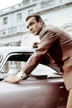 """Sean Connery (James Bond) in """"Goldfinger""""."""