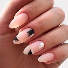 Stylish Minimalistic Almond Nail Art ❤️ ❤️ Many women choose almond nails as this shape is pretty and goes well with a huge number of nail designs. You can find some cute nail art here. https://naildesignsjournal.com/almond-nails-designs/ #naildesignsjournal #nails #nailart #naildesigns
