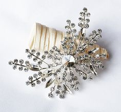 Rhinestone Brooch Embellishment Pearl Crystal Flower Hair Comb Tiara Shoe Clip Wedding Bouquet Brooch Cake Decoration BR088