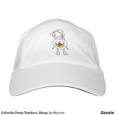 Colorida Oveja Tejedora. Sheep. Regalos, Gifts. #gorra #hat