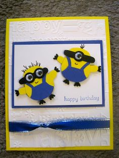 Crafty Paws by Trisha: Minion Card from Despicable Me and tutorial