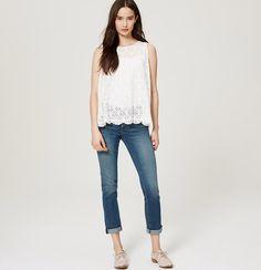Modern Cropped Jeans in Indigo Wash | Loft