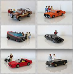 Cars of TV Series of the 80s: Fall Guy, Dukes of Hazard, A-Team, Knight Rider, Magnum, Miami Vice