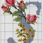 Steel Blue with Roses Alphabet Cross Stitch Pattern Alfabe Alphabet S Cross Stitch Letters, Cross Stitch Rose, Cross Stitch Charts, Cross Stitch Designs, Ribbon Embroidery, Cross Stitch Embroidery, Embroidery Patterns, Stitch Patterns, Cross Stitching
