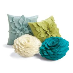 Dimensional Petal Pillows - model for chair back roses.