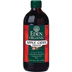 Eden Foods Organic Apple Cider Vinegar  16 fl oz * Check out the image by visiting the link. Apple Cider Vinegar Brands, Apple Cider Vinegar Water, Unfiltered Apple Cider Vinegar, Eden Foods, Best Mixed Drinks, Pork Salad, Plus 4, Summer Drinks, Fall Drinks
