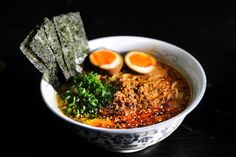 Ramen With Spicy Korean Chili Dressing By SeasonWithSpice . Recipe: Rainbow Ramen With Chili Garlic Citrus Broth . Cheater's Spicy Miso Ramen Hungrygirlporvida Com. Comida Ramen, Ramen Noodle Recipes, Asian Recipes, Ethnic Recipes, Pork Recipes, Mets, Food 52, Japanese Food, Japanese Noodles