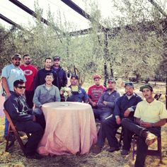 Cheers to this amazing crew for our 2013 olive harvest!