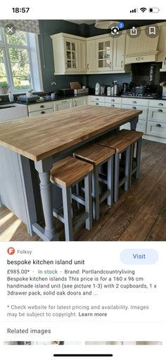 Solid Oak Doors, Bespoke Kitchens, Cupboard, Kitchen Island, The Unit, Bar, Home Decor, Clothes Stand, Island Kitchen