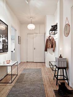lark&linen | classic, scandinavian hallway