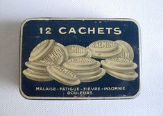 French Medicine Tablets Tin Kalmine Old Pill by LaBelleEpoqueDeco