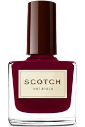 Scotch Naturals non-toxic Nail Polish - Blood and Sand - intense sparkling burgundy