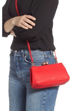 Ted Baker London Chrina Leather Crossbody Bag | Nordstrom Ted Baker Bag, Monogram Logo, Pebbled Leather, Nordstrom Rack, Leather Crossbody Bag, Shoulder Bag, London, Wallets, Handbags