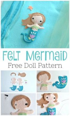 Little Felt Mermaid Pattern - Red Ted Art's Blog