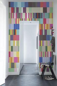 Hey,+bekijk+deze+mural+van+Rebel+Walls,+Striped+Stripe!+#rebelwalls+#behang+#mural