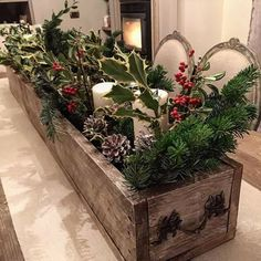 Pretty christmas decorations - 25 Most Interesting And Astounding TableTop Christmas Tree Ideas – Pretty christmas decorations Wooden Box Centerpiece, Christmas Table Centerpieces, Tabletop Christmas Tree, Xmas Decorations, Primitive Christmas, Rustic Christmas, Christmas Home, Christmas Holidays, Christmas Crafts