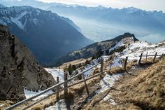 A Christmas day view of Montreux, Switzerland. Mount Everest, Mountains, Nature, Travel, Naturaleza, Viajes, Trips, Nature Illustration, Outdoors