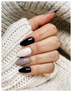 39 Trendy Fall Nails Art Designs Ideas To Look Autumnal and Charming - autumn nail art ideas fall nail art short nail art designs autumn nail colors dark nail designs coffin nails Fall Nail Art Designs, Black Nail Designs, Almond Nails Designs, Nail Color Designs, Prom Nails, Long Nails, Wedding Nails, Stylish Nails, Trendy Nails