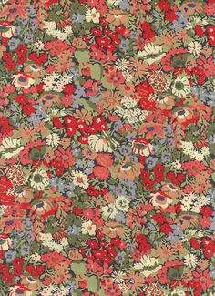 Liberty of London tana lawn fabric Thorpe in Red 6x27 by MissElany, $4.30
