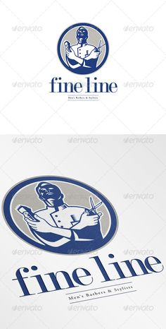 Fineline Men's Barbers and Stylists Logo Design Template Vector #logotype Download it here: http://graphicriver.net/item/fineline-mens-barbers-and-stylists-logo/7005702?s_rank=938?ref=nexion
