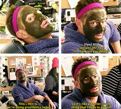 [gifset] Even after making fun of Jensen......... he's still adorable! SPN Mockumentary