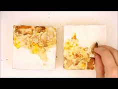 Encaustic Painting with Alcohol Inks and a Dry Shellac Burn - YouTube