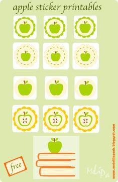 MeinLilaPark: apple sticker free printables
