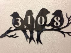 Custom House Address Number Metal Sign  Bird Art by INSPIREMEtals: