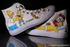 Converse Chuck Taylor High, Converse High, High Top Sneakers, Painted Converse, Chuck Taylors High Top, Superga, Dr. Martens, High Tops, Hand Painted