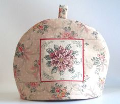 Christmas Poinsettia Teapot Cozy by PatsysPatchwork on Etsy, $20.00