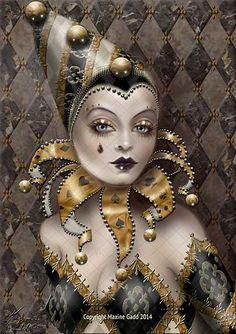 Harlequinette  ~   Maxine Gadd