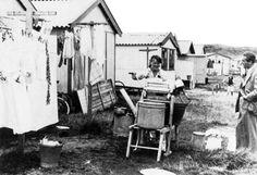 Hoek van Holland~03 Wasdag op het Kampeerterein 1950