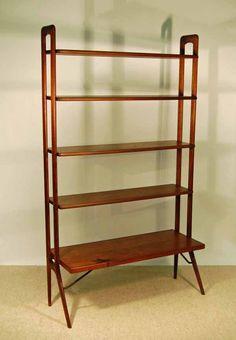 Mid Century Modern Danish Adjustable Bookshelf