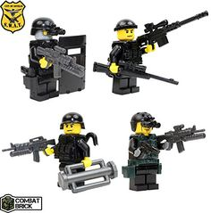 Police SWAT 4 men pack Assault Team - Custom Army Builder Military Minifigures lot by CombatBrick CombatBrick http://www.amazon.com/dp/B00KGT9J7A/ref=cm_sw_r_pi_dp_rQvtub019B3FS
