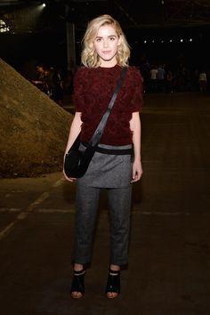 Kiernan Shipka à la Fashion Week de New York