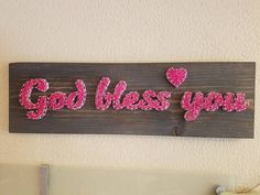 Check out this item in my Etsy shop https://www.etsy.com/listing/524088977/god-bless-you-stained-wood-wall-decor