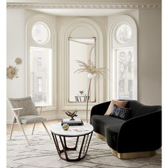 All it takes is one epic statement furniture piece to wholly refresh a room. From velvet sofas to LED chandeliers, here are our top Living Room Modern, Living Room Designs, Living Rooms, Jugendstil Design, Curved Sofa, Home Decor Trends, Decor Ideas, Decorating Ideas, Luxury Living