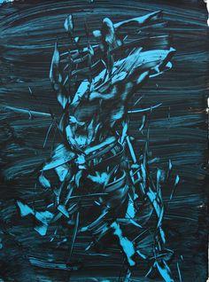 acrylic oil on paper by Judy Millar