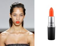 Jason Wu loves an eye-catching lip moment, which is why he ditched the classic red lip this season for more energetic orange-reds and tangerine oranges. If you're tired of sweeping on the same ol' muted palette, a vibrant orange color is always a fun shade to pack on your next vacation *and* it pairs well with brighter summer hues.  For a similar look, try Colour Rocker Lipstick in 'Darling Clementine,' $17; maccosmetics.com.