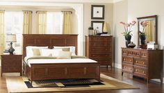 Magnussen Harrison Collection Panel Bedroom Set   from hayneedle.com