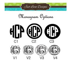 Everything is better Monogrammed. Use these custom vinyl decals to monogram anything with a hard flat surface. Decals are made with a high