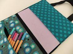3-in-1 Stofftasche für Hefte, Laptop und Stifte, Laptoptasche, Tasche nähen, DIY Kostenloses Schnittmuster