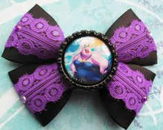 The little mermaid hair bow Ursula Disney hair bow by JaybeePepper, $5.50