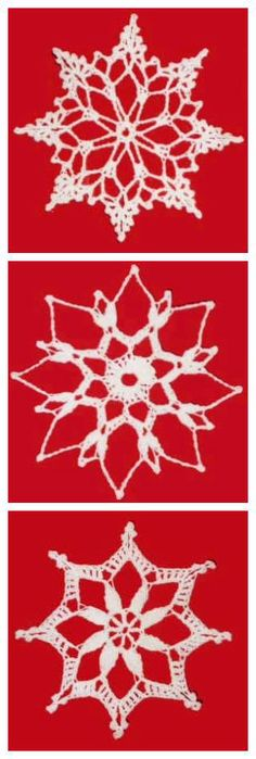 Free crochet snowflake Christmas ornament patterns. Plus many other free patterns.